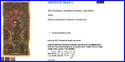Luke Martin Grateful Dead 2 Poster Print JACK STRAW VARIANT FOIL NEW Sealed
