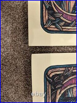Luke Martin Grateful Dead Bertha and Jack Straw Purple Variant