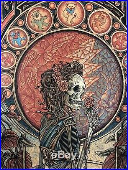 Luke Martin Grateful Dead Gold Foil Art Print Poster LE xx/100 signed Bottleneck
