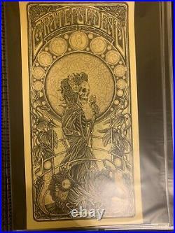 Luke Martin Grateful Dead Keyline Poster S/N xx/75 With Mini Print
