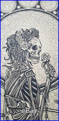 Luke Martin Grateful Dead Keyline Poster Signed #'ed xx/75 IN HAND with mini print