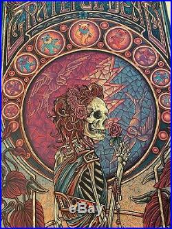 Luke Martin (Suburban Avenger) Grateful Dead Purple Variant Poster