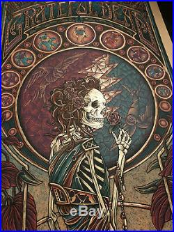 Luke Martin Suburban Avenger Grateful Dead Variant gold foil print poster