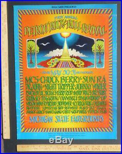 MC5 Chuck Berry Dr. John Detroit RockRoll Revival Concert Poster Grimshaw 1969
