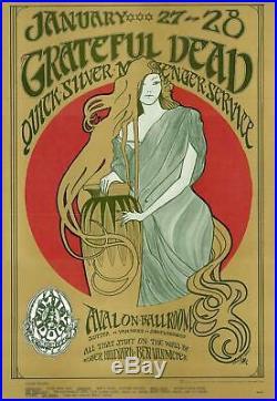 MINT Grateful Dead Quicksilver 1967 FD 45 Family Dog Avalon Poster