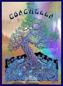 MINT Paul McCartney Black Keys EMEK 2009 Coachella GLITTER FOIL A/P Poster 3/3