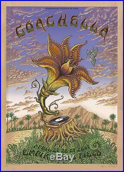 MINT RHCP RATM 2007 EMEK Coachella KRAFT Poster 36/100