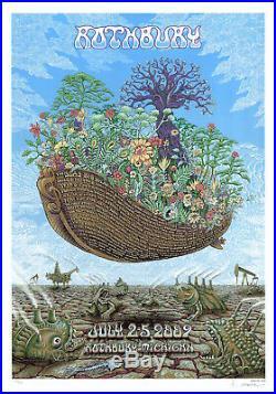 MINT & SIGNED EMEK 2009 The Dead Bob Dylan Rothbury Poster 556/600