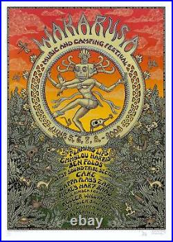 MINT & SIGNED EMEK Widespread Panic 2008 Wakarusa SUNSET Poster 31/40