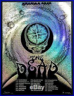 MINT & SIGNED Emek Grateful Dead 2009 Spring Tour GLITTER FOIL Poster 13/14
