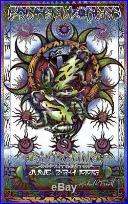 MINT & SIGNED Grateful Dead 1995 Mountain View Everett THICK STOCK Poster
