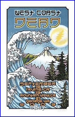 MINT & SIGNED The Dead 2003 West Coast Tour Gary Houston Poster 27/700