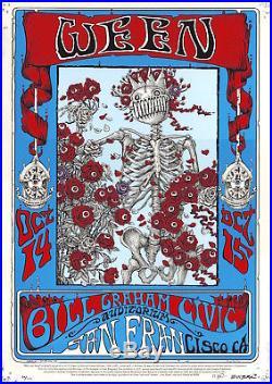 MINT/SIGNED Ween Skeleton & Roses EMEK 2016 FD 26 Bill Graham Poster 29/111