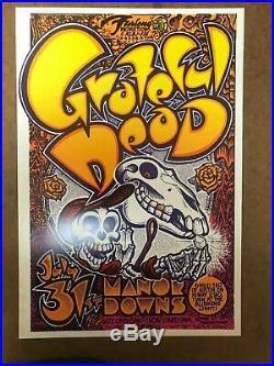 Manor Downs poster @ Austin, Texas 1982 Grateful Dead AOR 4.159