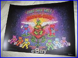 Marq Spusta Grateful Dead Fare Thee Well Chicago Poster Print S/N #98/2015 RARE