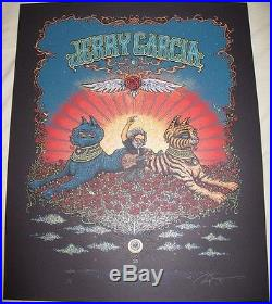 Marq Spusta Jerry Garcia Bed Of Roses Poster Print Grateful Dead AP Signed
