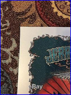 Marq Spusta Jerry Garcia Bed Of Roses Poster Print Grateful Dead Silver Edition