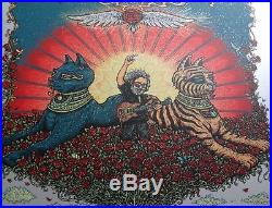 Marq Spusta Jerry Garcia Bed of Roses'13 Silver Artist Edition Poster S/N