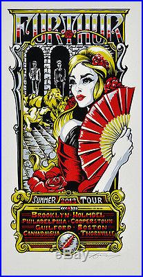 Masthay Grateful Dead Furthur 2013 Summer Tour Original Artwork, Block & Poster