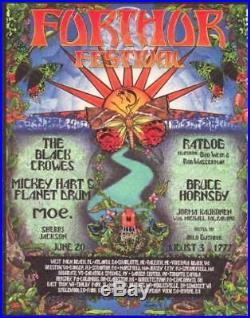 Michael Everett 1997 Furthur Festival Poster Grateful Dead Black Crowes MOE