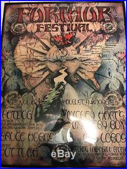 Michael Everett Furthur Festival 1996 Poster Ratdog Bruce Hornsby Grateful Dead