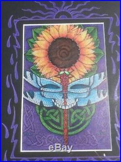 Michael Everett Original Artwork Dragonfly sunflower concept drawing
