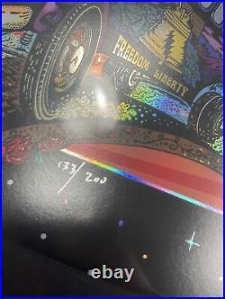 Mike dubois Eyes of the World 133/200 Grateful Dead foil poster