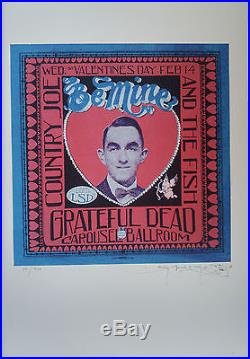 Minty Grateful Dead Carousel Ballroom Signed Stanley Mouse Poster Print