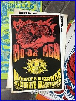 Mo-Jo Men Chocolate Watchband Continental 1967 Psych Fillmore Rock Poster Rare