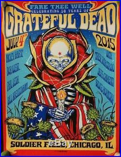 Munk One Grateful Dead 50 Soldier Field JULY 4 NIGHT 2 Print Poster Art nt Emek