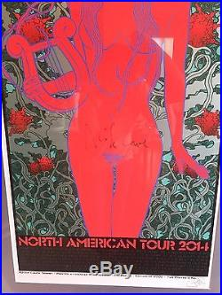 NICK CAVE AMERICAN TOUR 2014 POSTER #1772 of 2000, SIGNED, FRAMED, CHUCK SPERRY