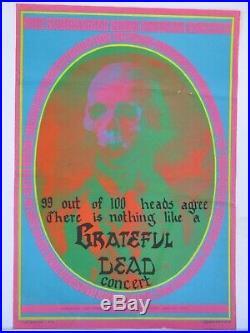 NR13 Overprint Plastic Explosion Grateful Dead Neon Rose Concert Poster Fillmore