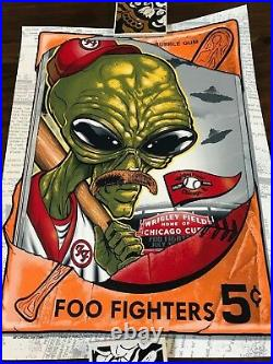 NUMBERED Foo Fighters Wrigley Field Chicago Poster 2018 Zombie Yeti