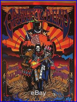 NUMBERED Richard Biffle Grateful Dead Fare Thee Well Concert FOIL Poster Chicago