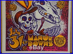 Nm- Grateful Dead At Manor Downs Austin Texas Fillmore Family Dog Era Poster