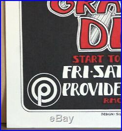 Nm- Grateful Dead Randy Tuten Providence Fillmore Family Dog Era Poster