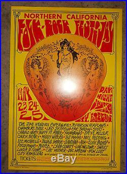 Northern California Folk-Rock Led Zeppelin poster BG, FD, AOR, Grateful Dead