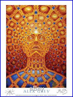 OFFICIAL SIGNED ALEX GREY Oversoul POSTER print Phish TOOL Grateful Dead LSD
