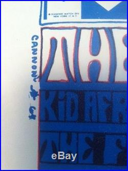Orig. Filmore Era Rock Poster Rare The Seeds Kid Africa Flowers 1967 Litho 1st B