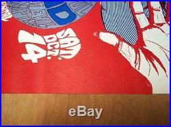 Orig. Grateful Dead 1967 Litho Rare Cannon Poster Continental S. F. Graham Era 10