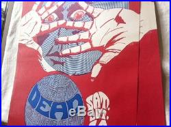Orig. Grateful Dead 1967 Litho Rare Cannon Poster Continental S. F. Rock Era 1st