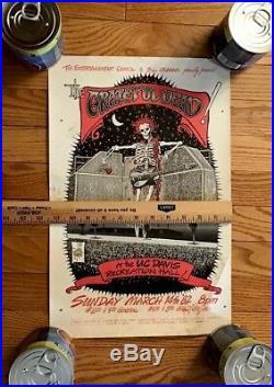 ORIGINAL GRATEFUL DEAD VINTAGE POSTER 1982 Cal-Davis AOR 4.109 LP Art of Rock