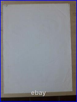 ORIGINAL Mother McCrees Concert Poster ARTWORK Grateful Dead 1964 Only 1 Known
