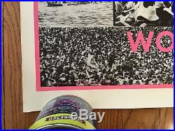 ORIGINAL WOODSTOCK POSTER 1969 We Are One Rare Uncut Grateful Dead Hendrix