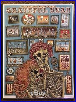 Official Fare Thee Well Grateful Dead GD50 LE S/N EMEK FIRST RUN Poster