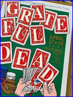 One Of The Only Signed 2 Sided Grateful Dead Poster Vegas 1991 Santana Concert