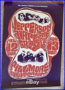 Orig 1966 Grateful Dead Jefferson Airplane Concert Poster Bg 23 1st Printing