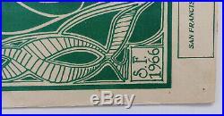 Orig 1st Printing Family Dog Grateful Dead Poster Stanley Mouse Signed 1966