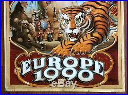 Orig. GRATEFUL DEAD Poster by RICK GRIFFINFamous 1990 European Tour1st Print
