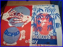 Orig. Grateful Dead 1967 Litho Rare Cannon Posters Continental S. F. Rock Era 1st